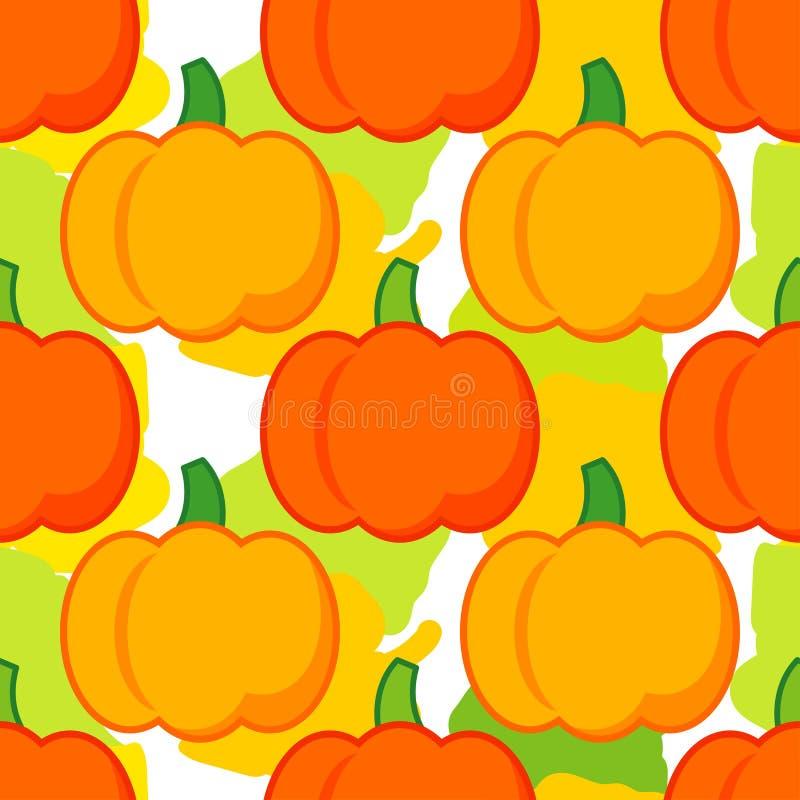 Nahtloser Hintergrund mit Kürbisen thanksgiving Erntefest stock abbildung