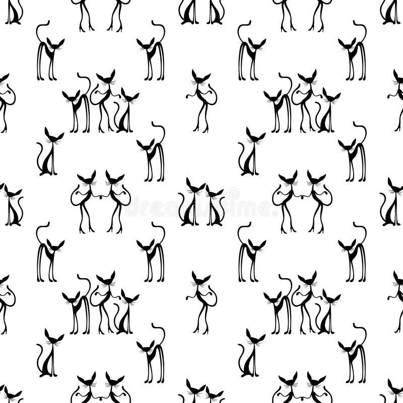 Download Nahtloser Hintergrund Mit Katzen Vektor Abbildung - Illustration von abbildung, katzen: 96927563