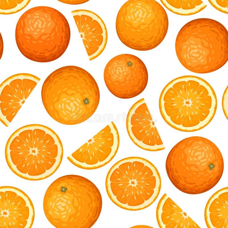 Nahtloser Hintergrund mit Orangen. vektor abbildung