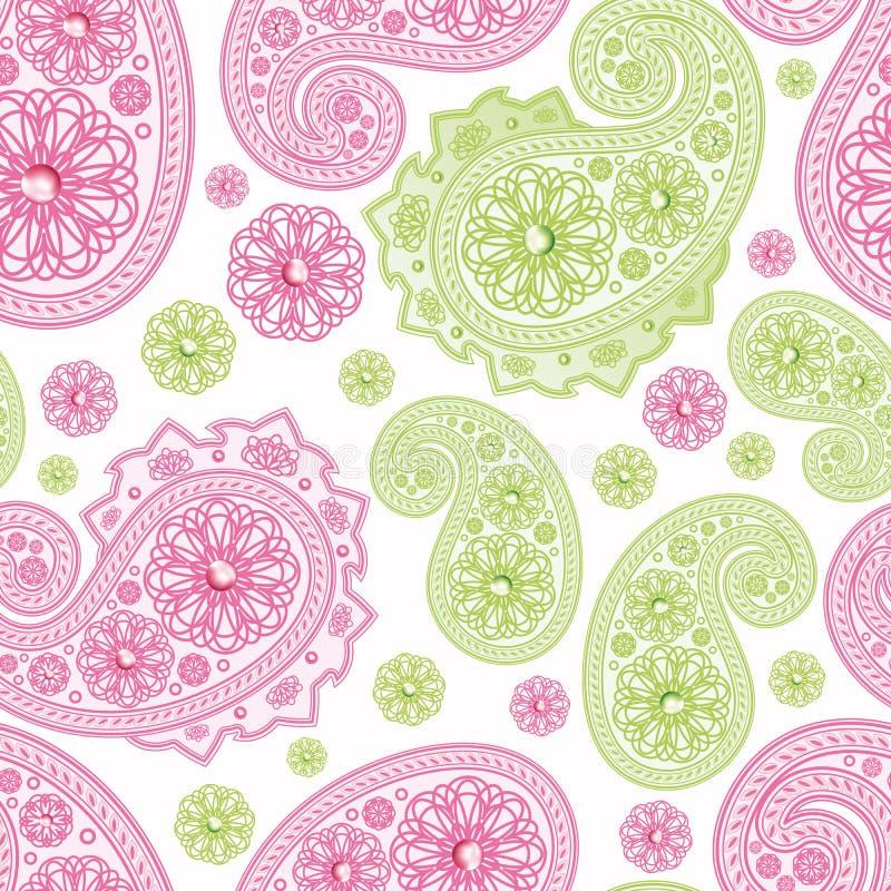 Nahtloser Hintergrund mit paisleys. stock abbildung