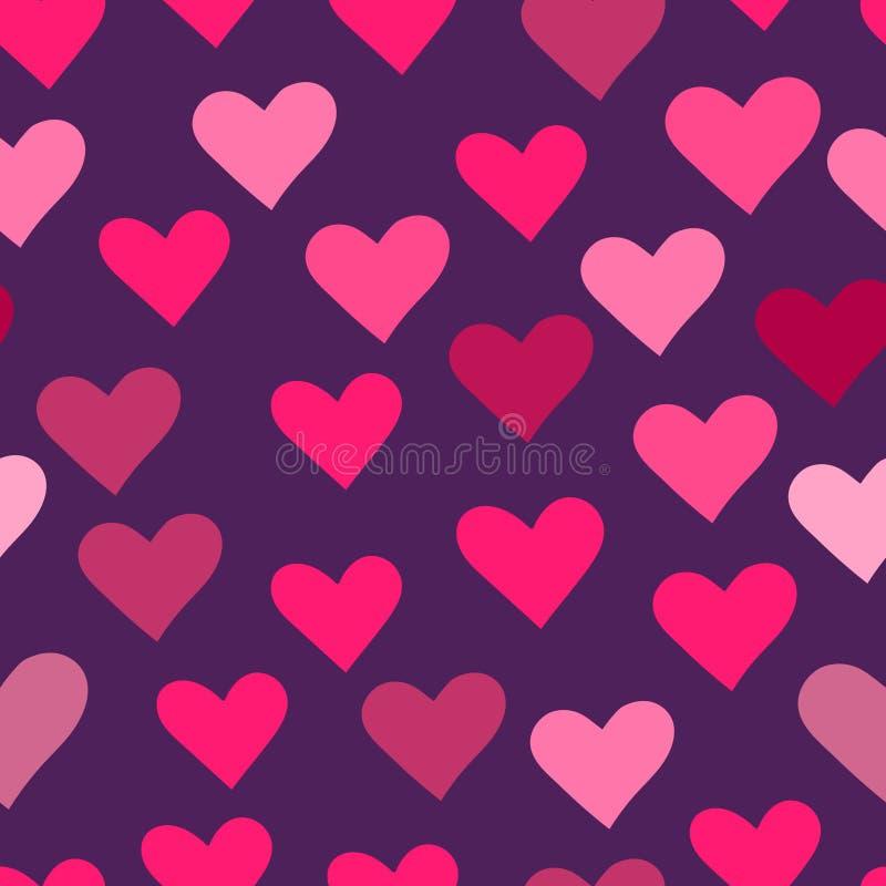 Nahtloser Hintergrund mit rosa Herzen lizenzfreie abbildung