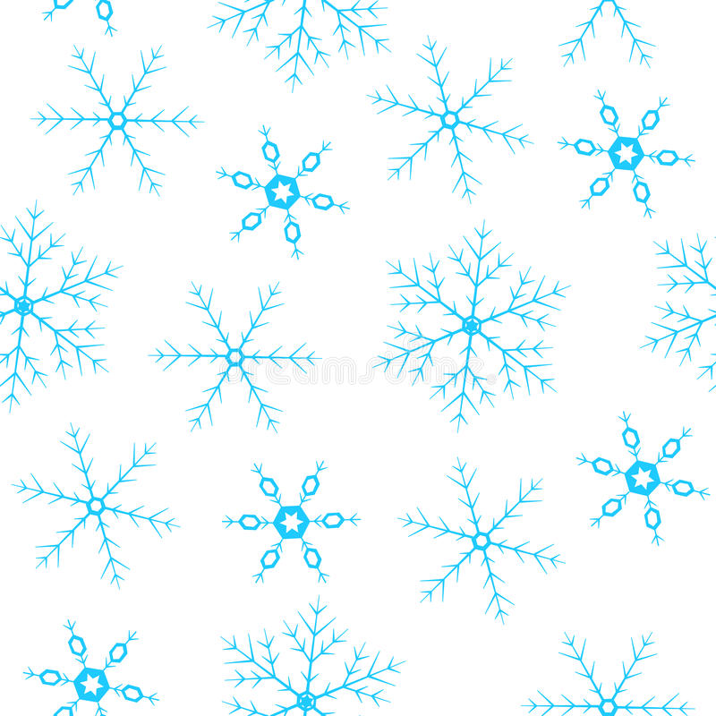 Nahtloser Hintergrund mit Schneeflocken stockfoto
