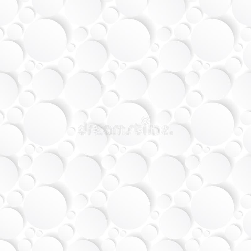 Nahtloser Hintergrund mit weißen Kreisen lizenzfreie abbildung