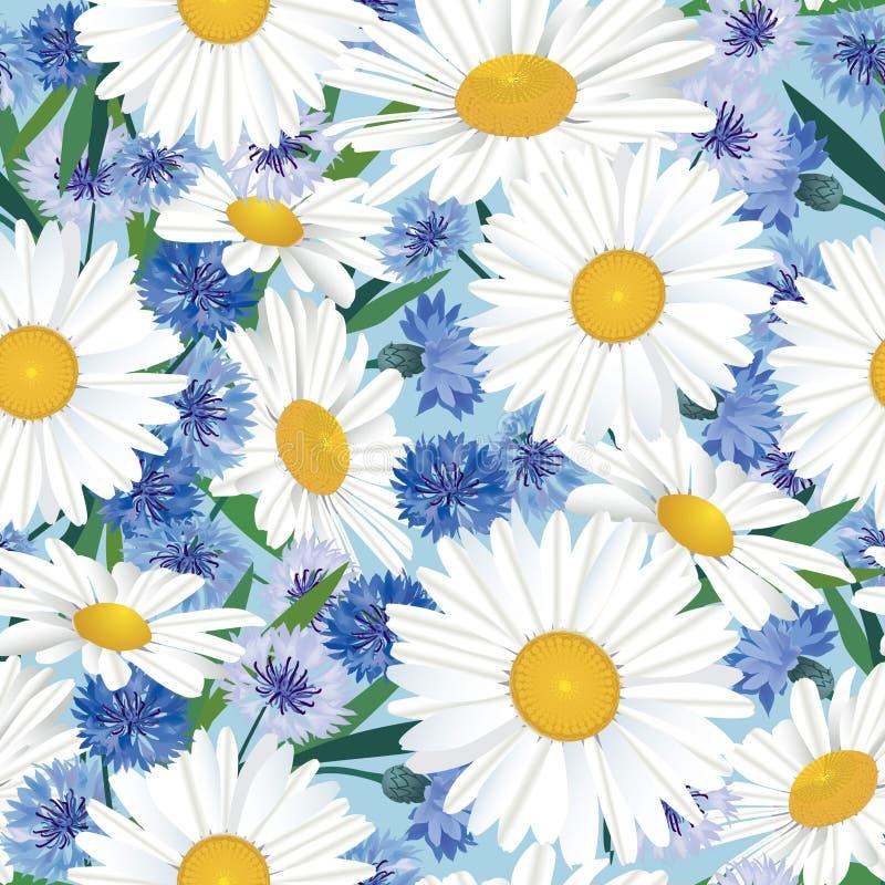 Nahtloser Hintergrund mit Wiesenblume stock abbildung