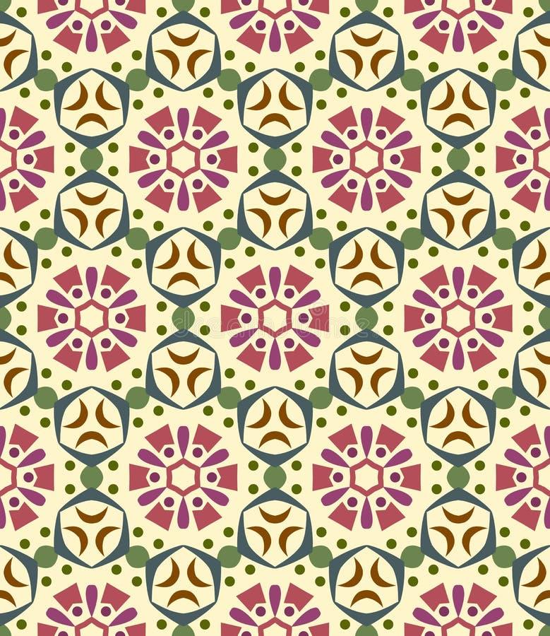 Nahtloser Hintergrund, Muster mit Blumen vektor abbildung