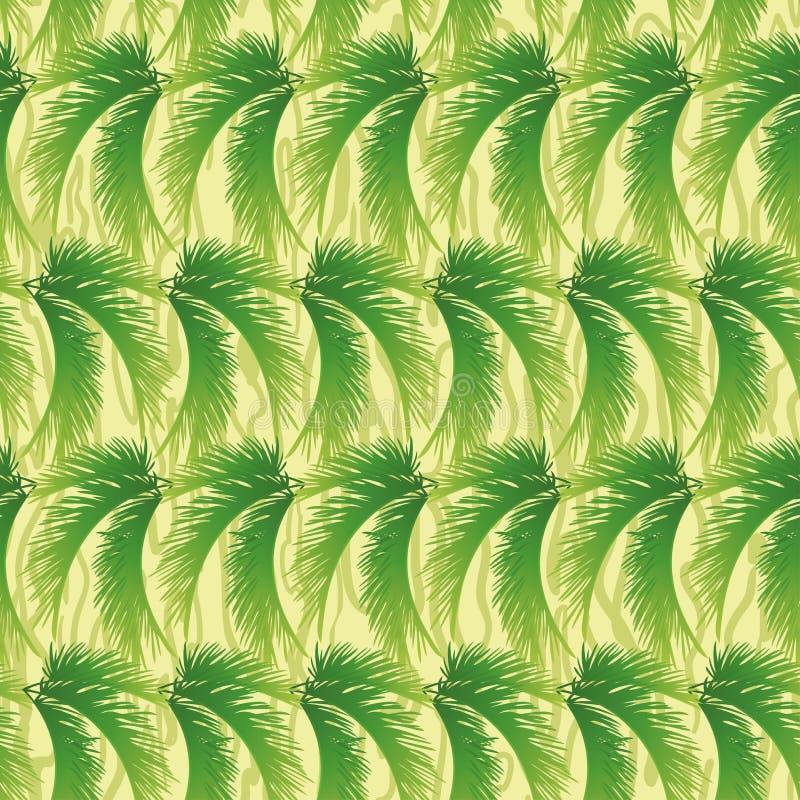 Nahtloser Hintergrund, Palmblätter stock abbildung