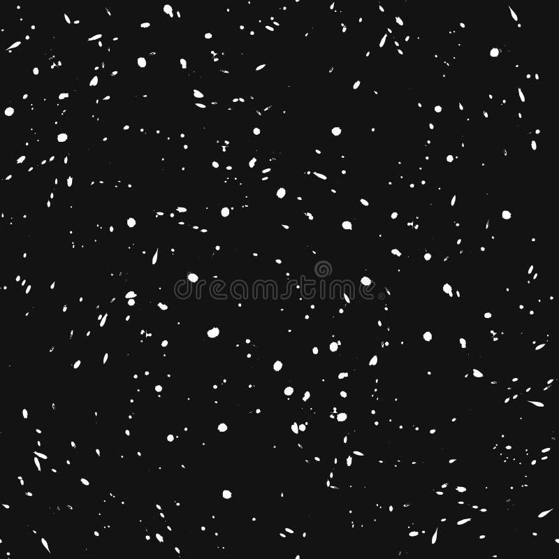 Nahtloser Hintergrund, Schneefälle und Blizzard Nachtschneebedeckter Himmel stock abbildung