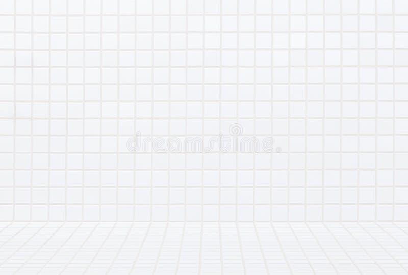 Nahtloser Hintergrund und Muster der modernen weißen Backsteinmauer lizenzfreie stockfotografie
