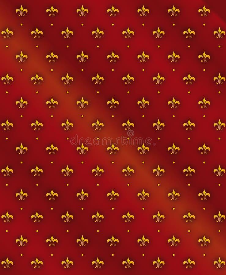 Nahtloser Königlicher Lilienhintergrund Lizenzfreie Stockfotografie