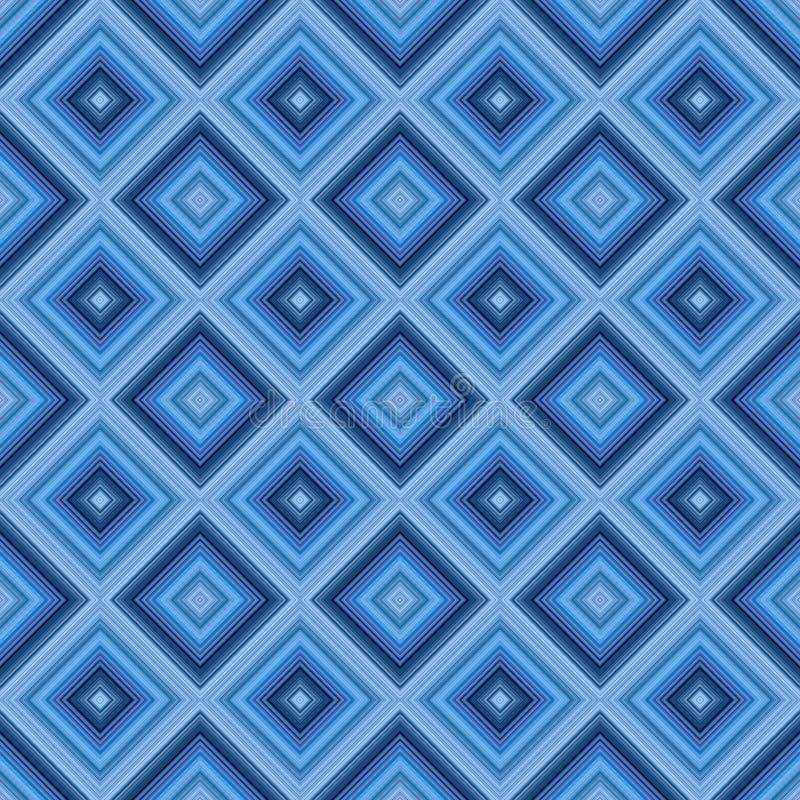 Nahtloser kleiner blauer Diamantmusterhintergrund. lizenzfreie abbildung