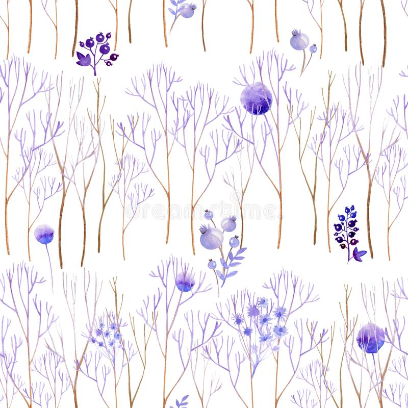 Nahtloser lila Wald vektor abbildung