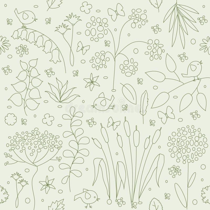 Nahtloser mit Blumenhintergrund. vektor abbildung