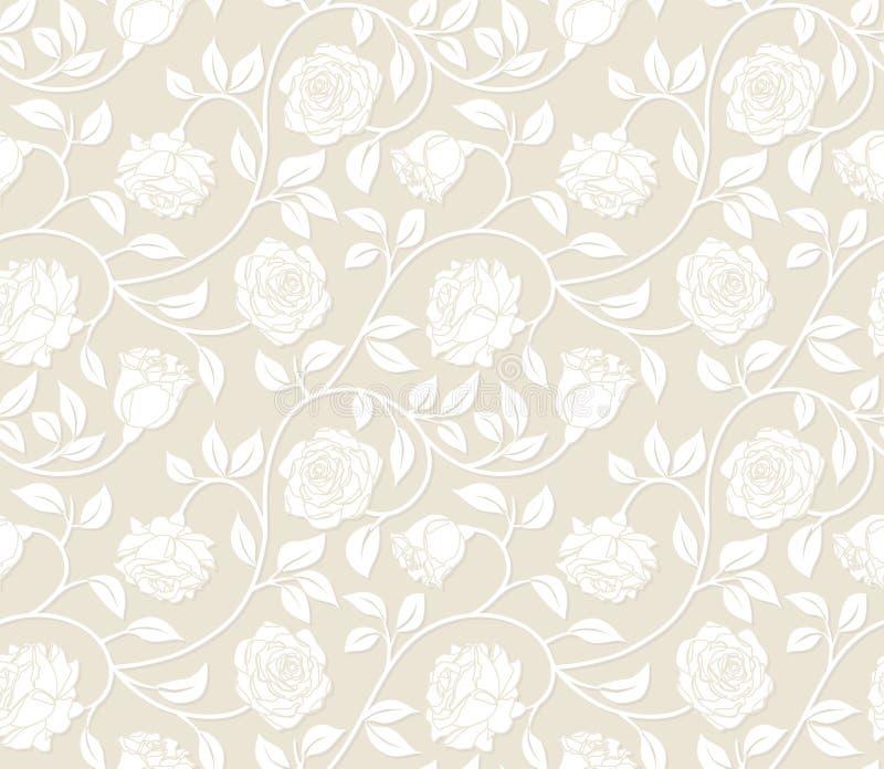 Nahtloser mit Blumenhintergrund. stock abbildung