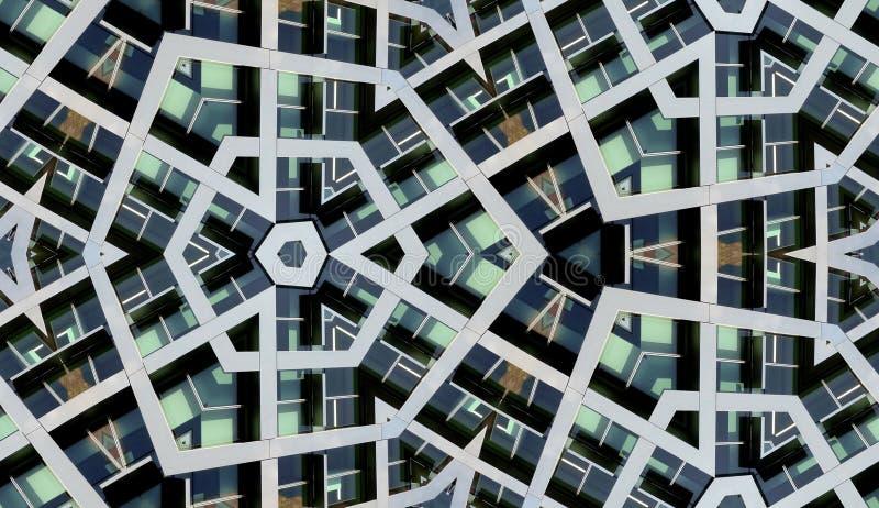 Nahtloser moderner Gebäude-Hintergrund lizenzfreie abbildung