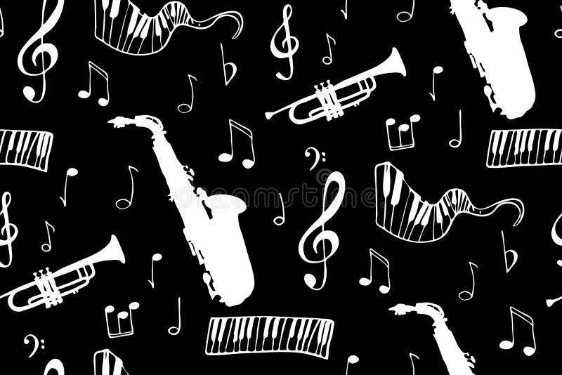 Nahtloser Musikhintergrund vektor abbildung
