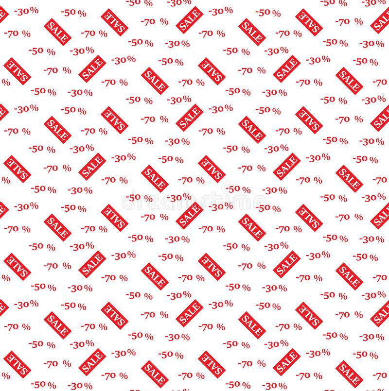 Nahtloser Muster VERKAUF, Vektor tapete stock abbildung