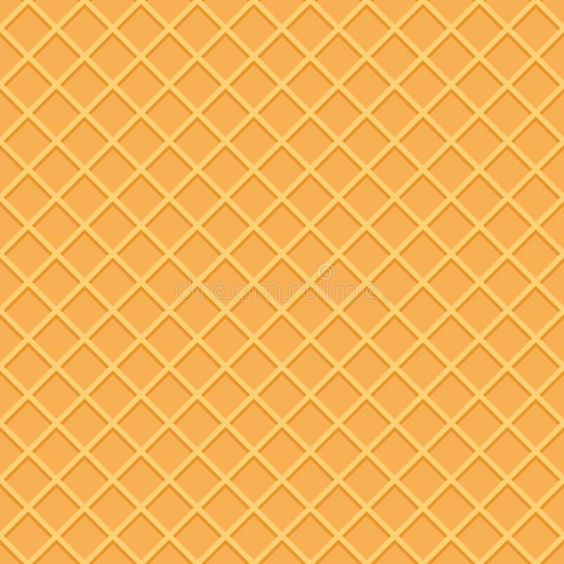 Nahtloser Musterhintergrund der Oblate Eistüteoberfläche vektor abbildung
