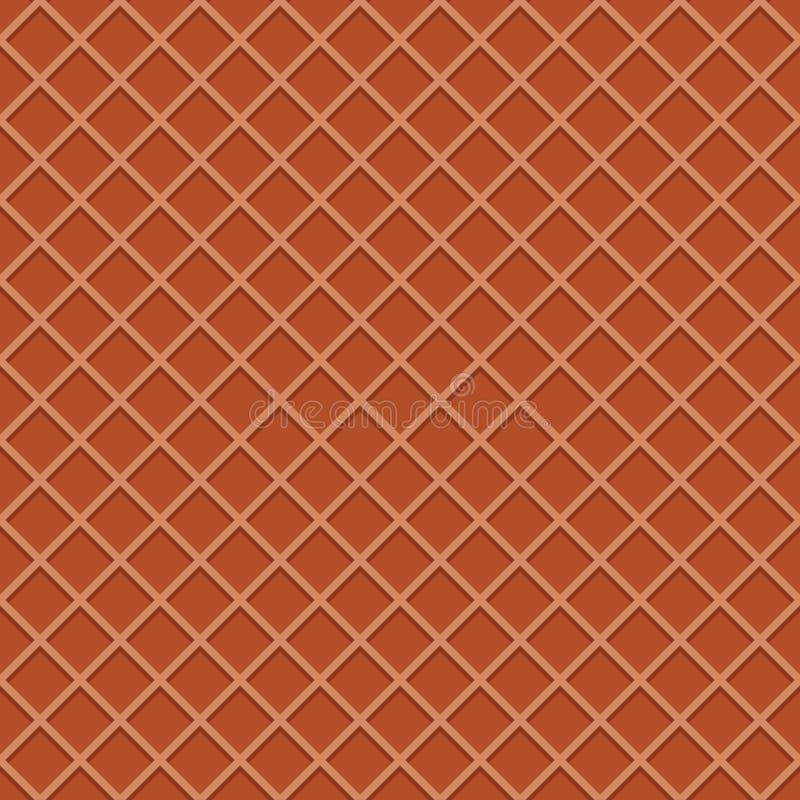 Nahtloser Musterhintergrund der Oblate Eistüteoberfläche lizenzfreie abbildung