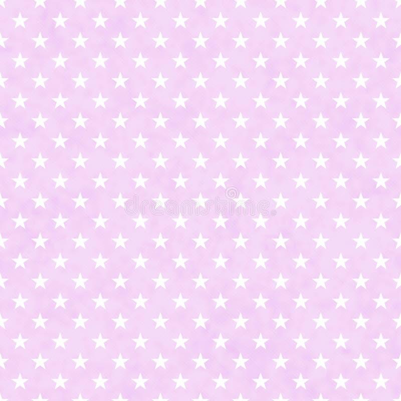 Nahtloser Musterhintergrund der Rosa- und Weißsterne lizenzfreie stockfotos
