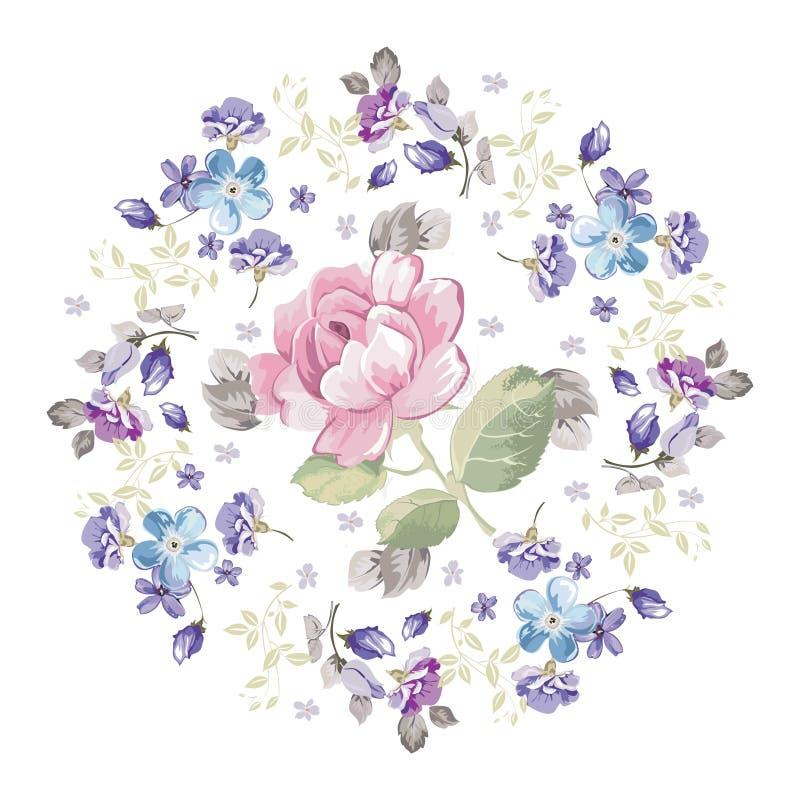 Nahtloser Musterhintergrund der Vektorblume Elegante Beschaffenheit für Hintergründe Klassische altmodische Blumenluxusverzierung vektor abbildung