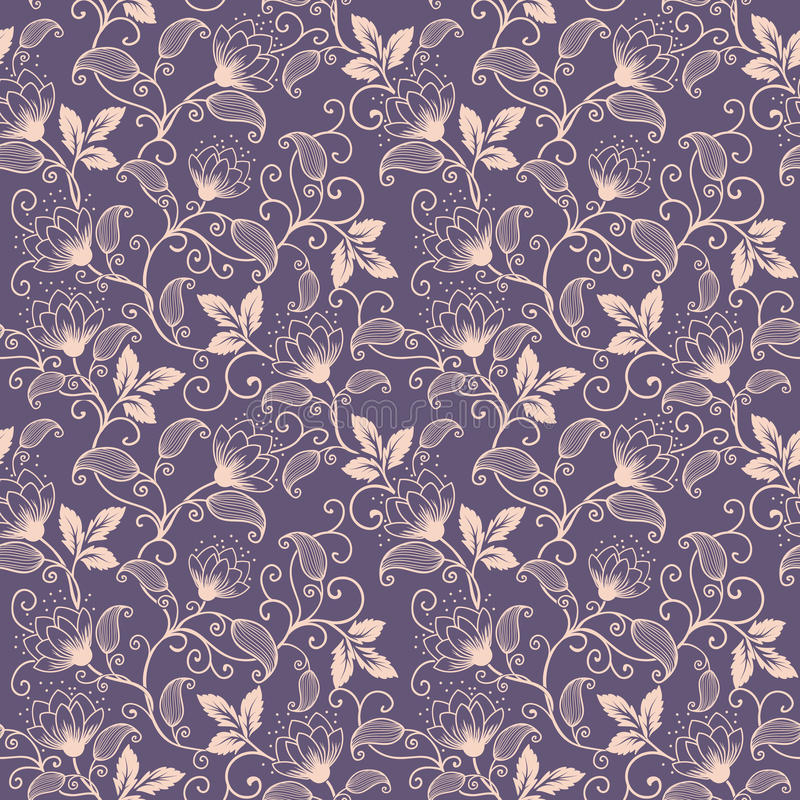 Nahtloser Musterhintergrund der Vektorblume Elegante Beschaffenheit für Hintergründe Klassisches altmodisches Luxusblumen lizenzfreie abbildung