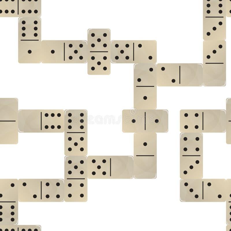 Nahtloser Musterhintergrund des Dominos stock abbildung