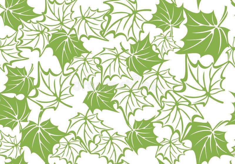 Nahtloser Musterhintergrund des Grünahornblattes vektor abbildung