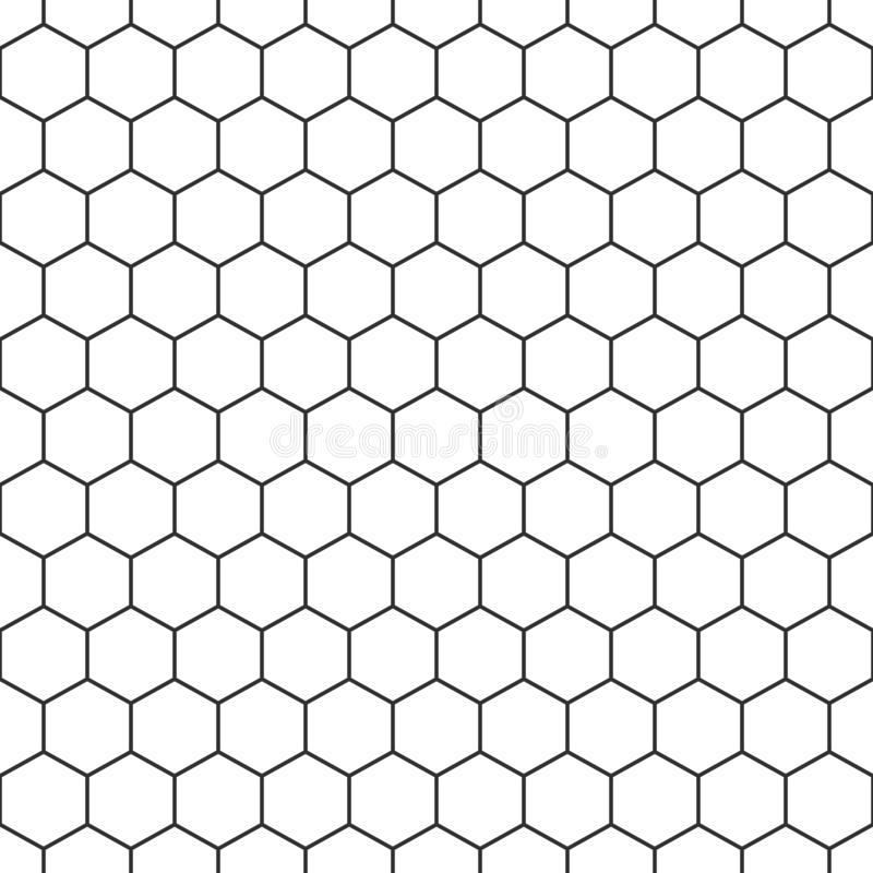 Nahtloser Musterhintergrund des Hexagons vektor abbildung