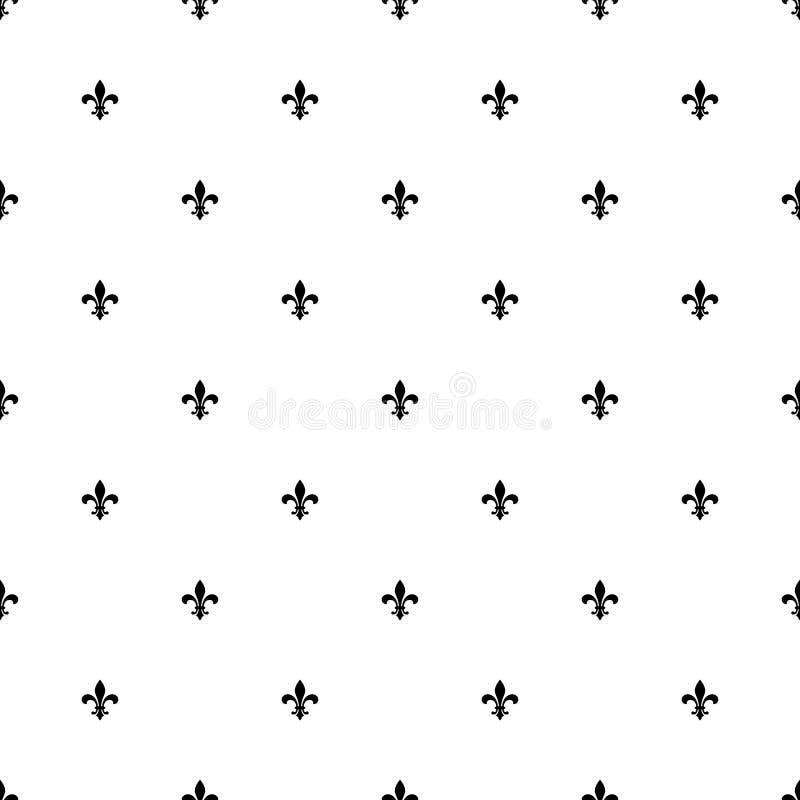Nahtloser Musterhintergrund Fleur de Lis vektor abbildung