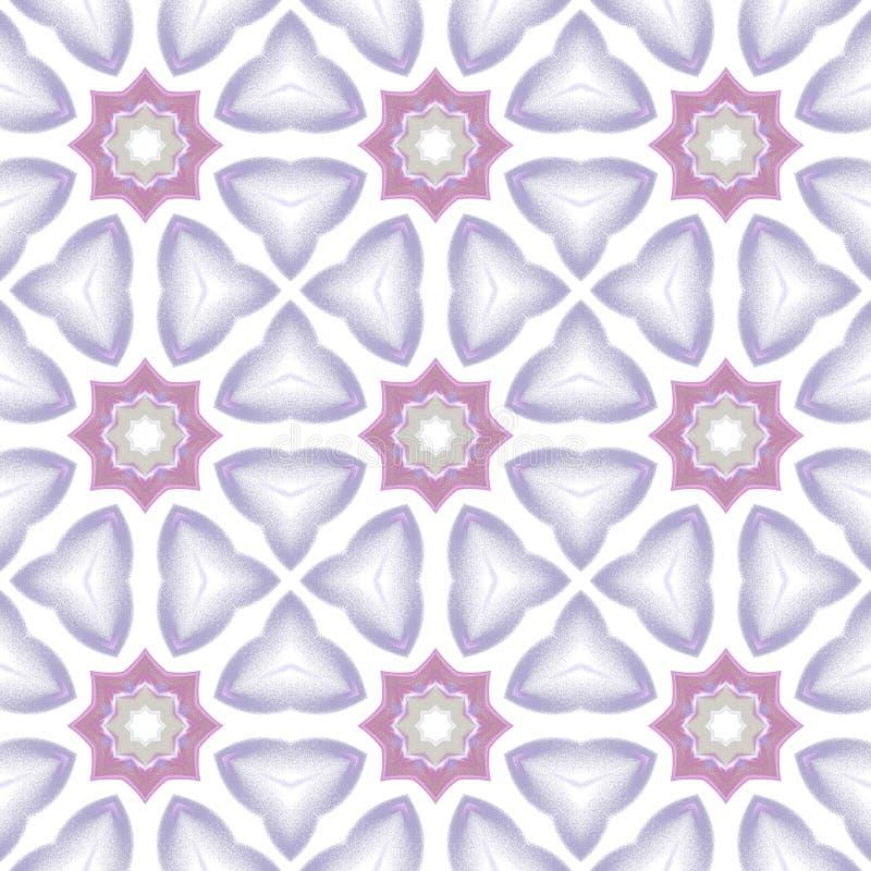 Nahtloser Musterhintergrund mit mehrfarbigen gewellten Linien lizenzfreie abbildung