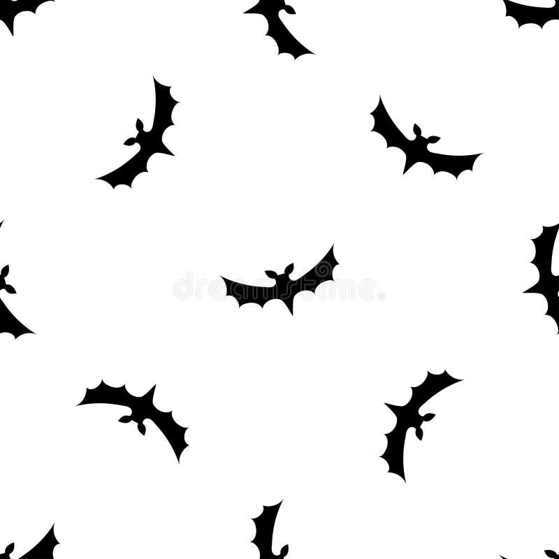 Nahtloser Musterhintergrund mit Schlägern Schwarzes auf weißer Beschaffenheit stock abbildung