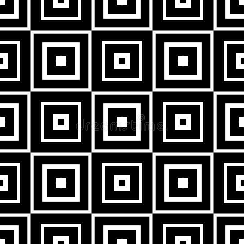 Nahtloser Musterhintergrund in Schwarzweiss Weinlese und Retro- abstraktes dekoratives Design Einfache Ebene lizenzfreie stockfotos