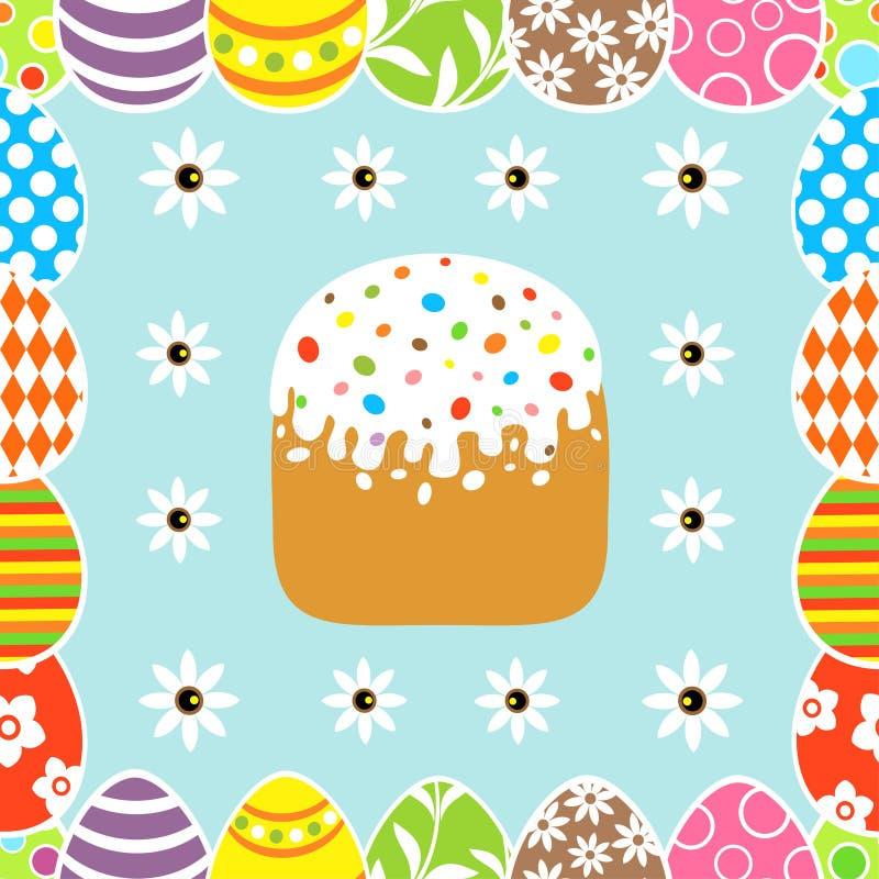 Nahtloser Ostern-Hintergrund mit Kuchen stock abbildung
