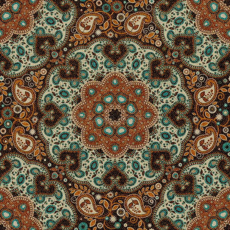 Nahtloser Paisley-Hintergrund, Blumenmuster Bunter dekorativer Hintergrund Indische Verzierung Schöne indische Verzierung lizenzfreie abbildung