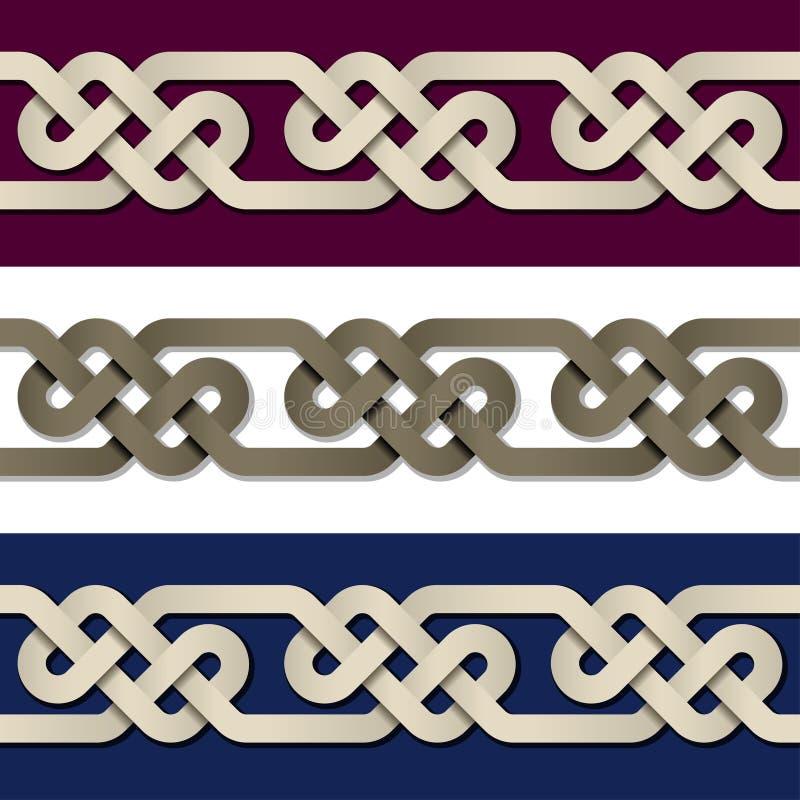 Nahtloser Papierknotenrahmenhintergrund stock abbildung