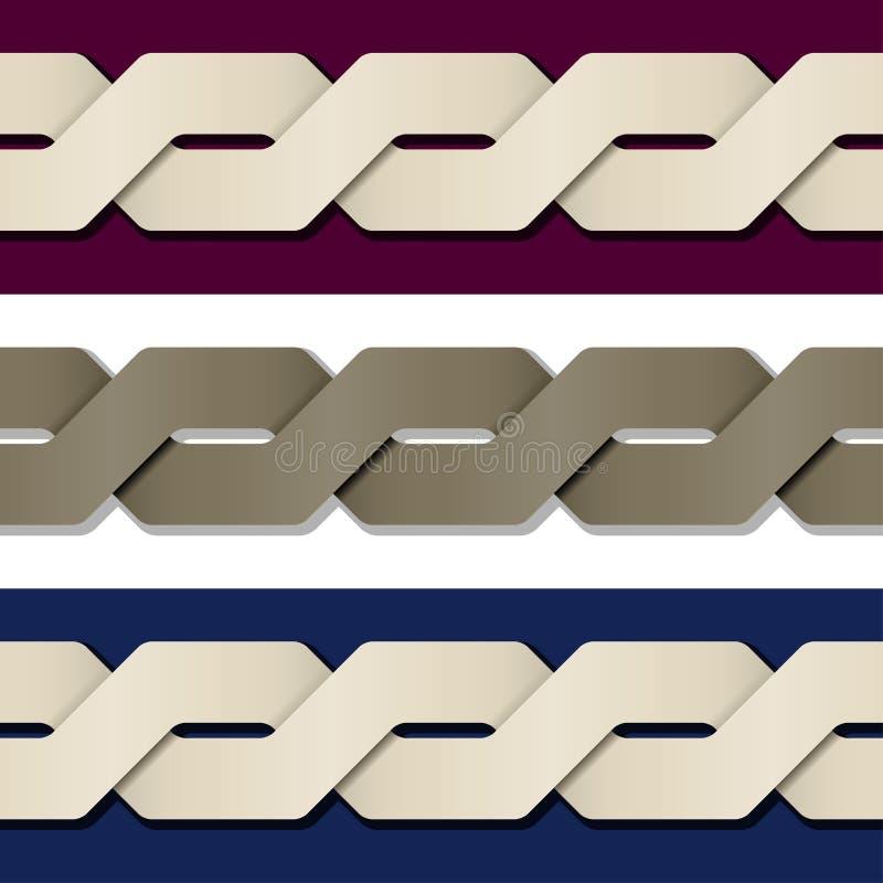 Nahtloser Papierknotenrahmenhintergrund lizenzfreie abbildung