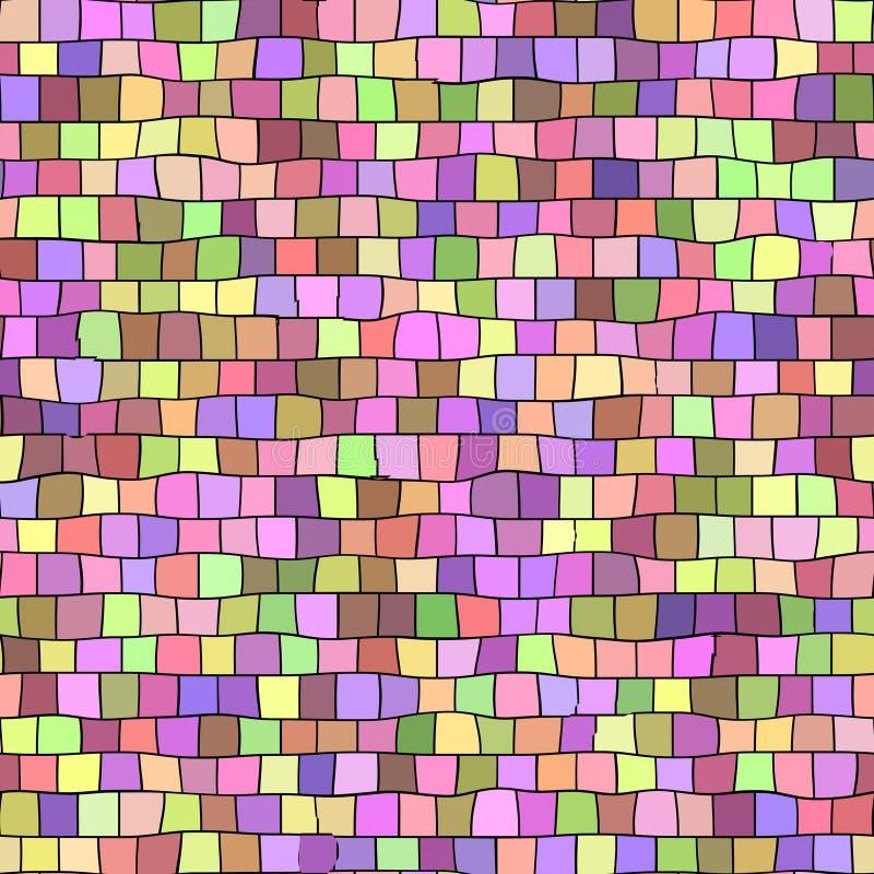 Nahtloser Pastell färbte Mosaikbeschaffenheits-Musterhintergrund - quadratische Stücke vektor abbildung
