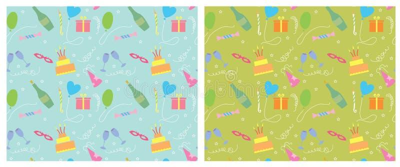 Nahtloser Pattern.vector Hintergrund Des Feiertags Farb Lizenzfreies Stockbild