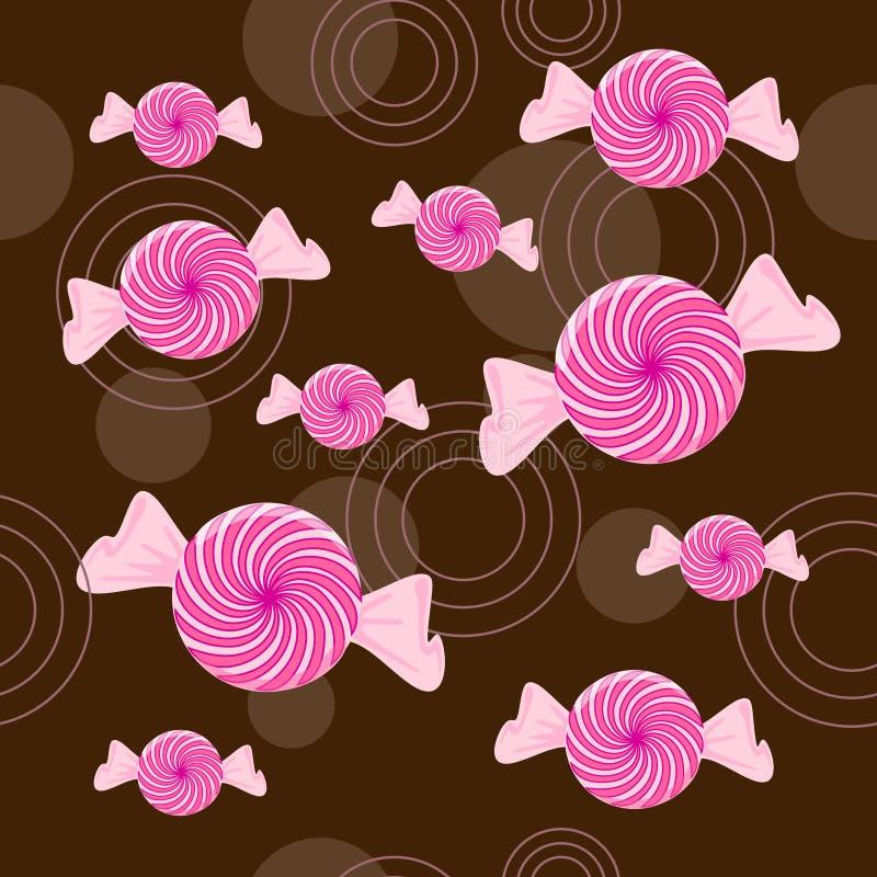 Nahtloser Pfefferminz-Süßigkeit-Hintergrund lizenzfreie abbildung