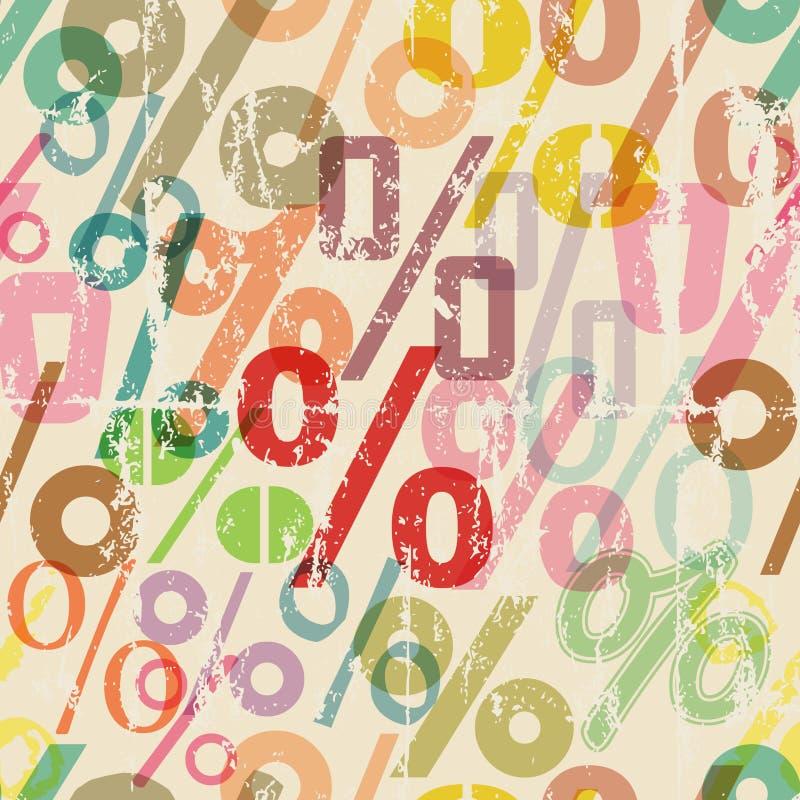 Download Nahtloser Prozentsatzzeichen-Musterhintergrund Vektor Abbildung - Illustration von nahtlos, abbildung: 106804012
