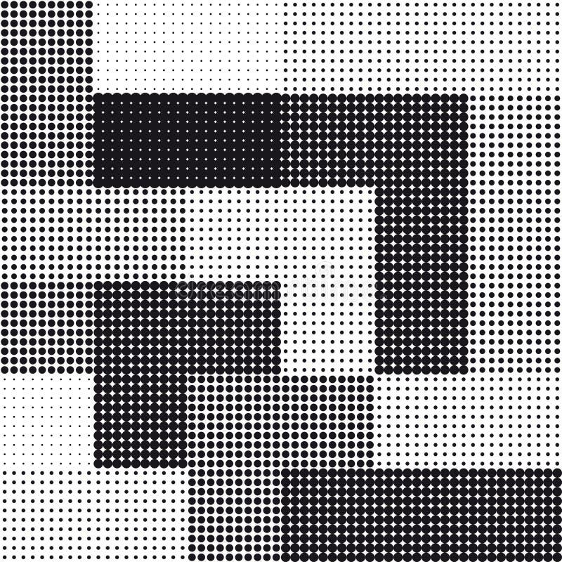 Nahtloser quadratischer Halbtonhintergrund lizenzfreie abbildung