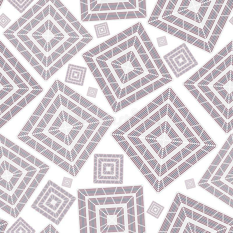 Nahtloser quadratischer keramischer Hintergrund stock abbildung