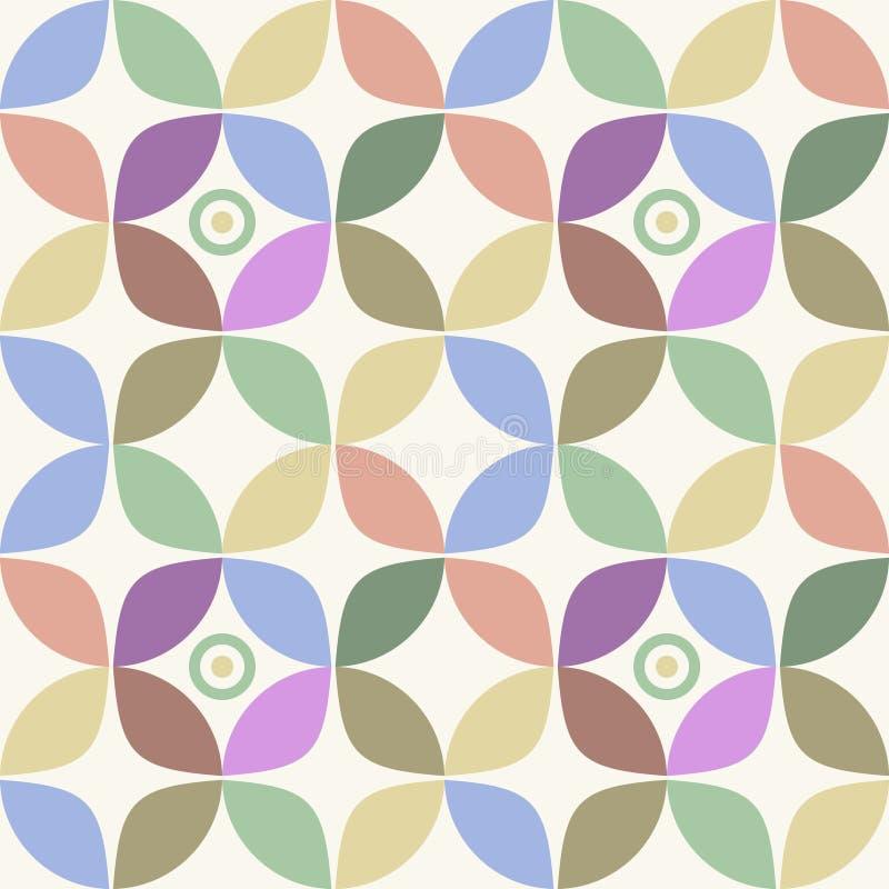Nahtloser Retro- geometrischer Hintergrund lizenzfreie abbildung