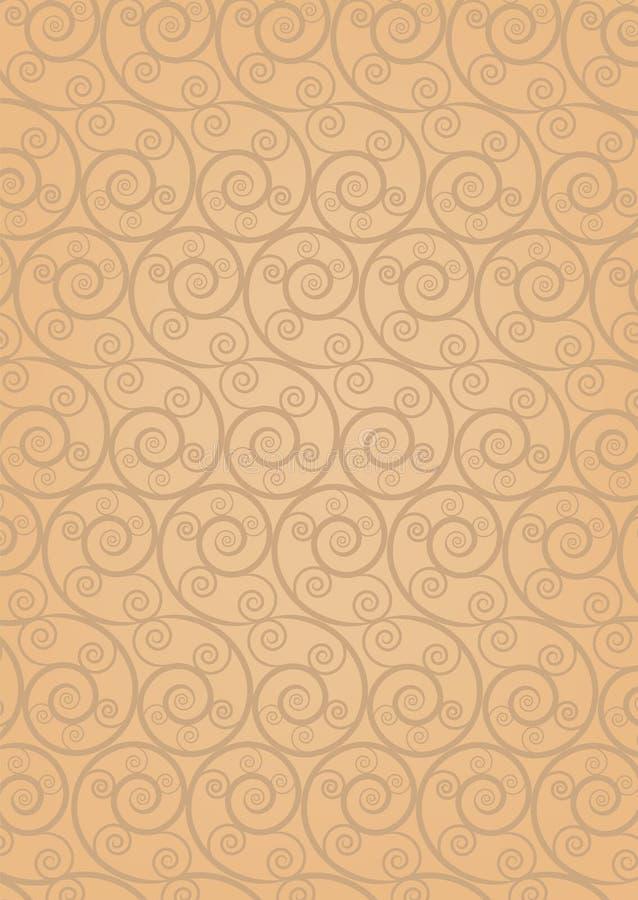 Nahtloser Retro- Mustertapete Damast vektor abbildung