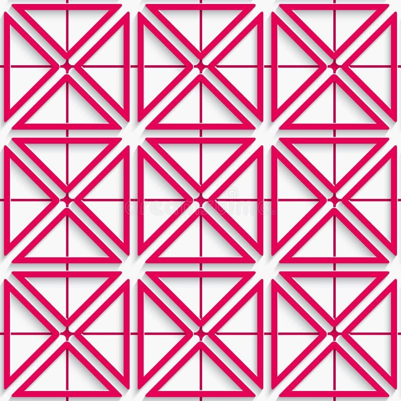 Nahtloser rosa Nettohintergrund vektor abbildung