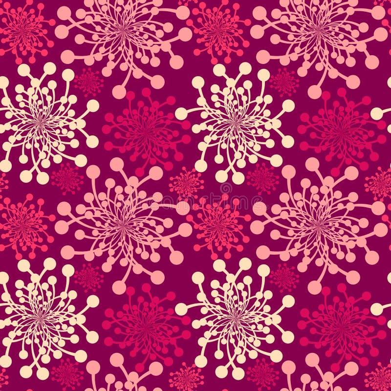 Nahtloser rosafarbener Löwenzahn lizenzfreie abbildung