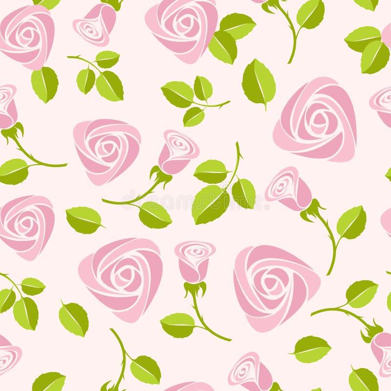 Nahtloser rosafarbener mit Blumenhintergrund stock abbildung