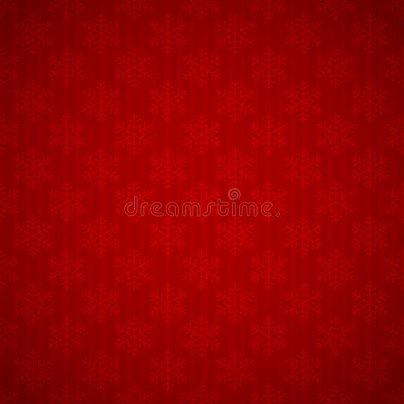 Nahtloser roter Hintergrund mit Schneeflocken vektor abbildung