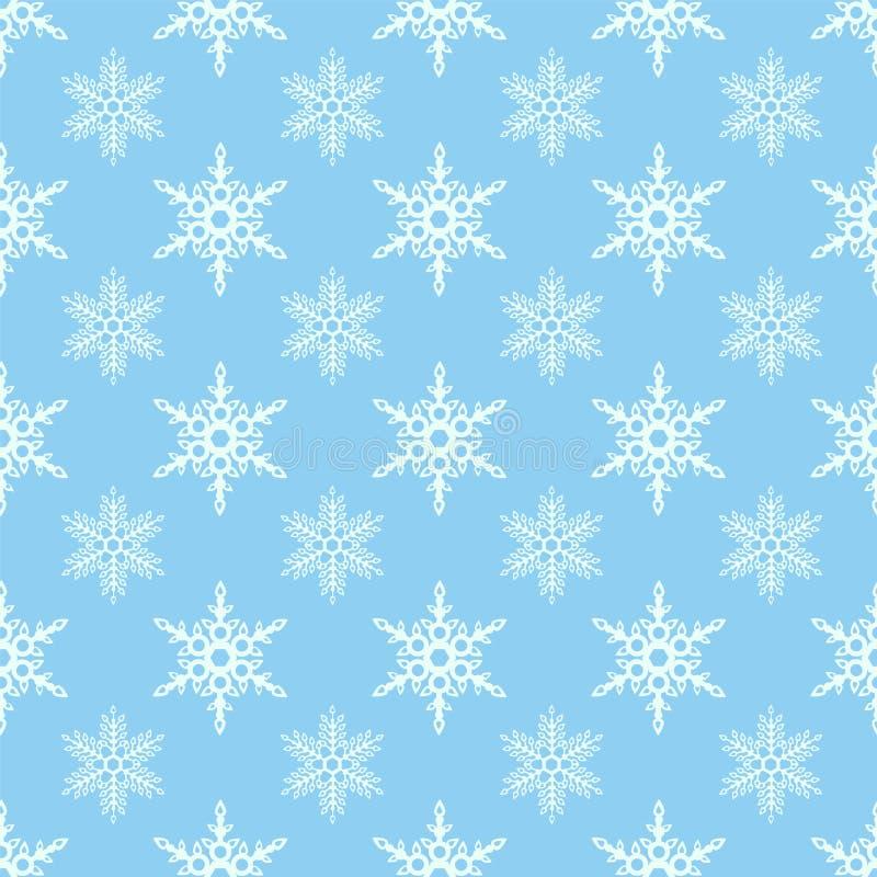 Nahtloser Schneeflockehintergrund für Winter- und Weihnachtsthema vektor abbildung