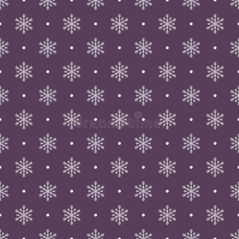Nahtloser Schneeflockehintergrund für Winter- und Weihnachtsthema stock abbildung
